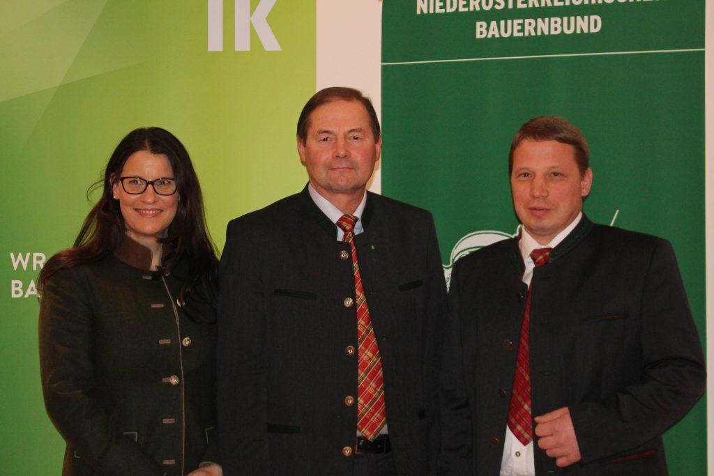 Petra Scherzer-Zwinz, ÖKR Josef Fuchs, Johann Stickelberger (Bezirksbauernkammer)