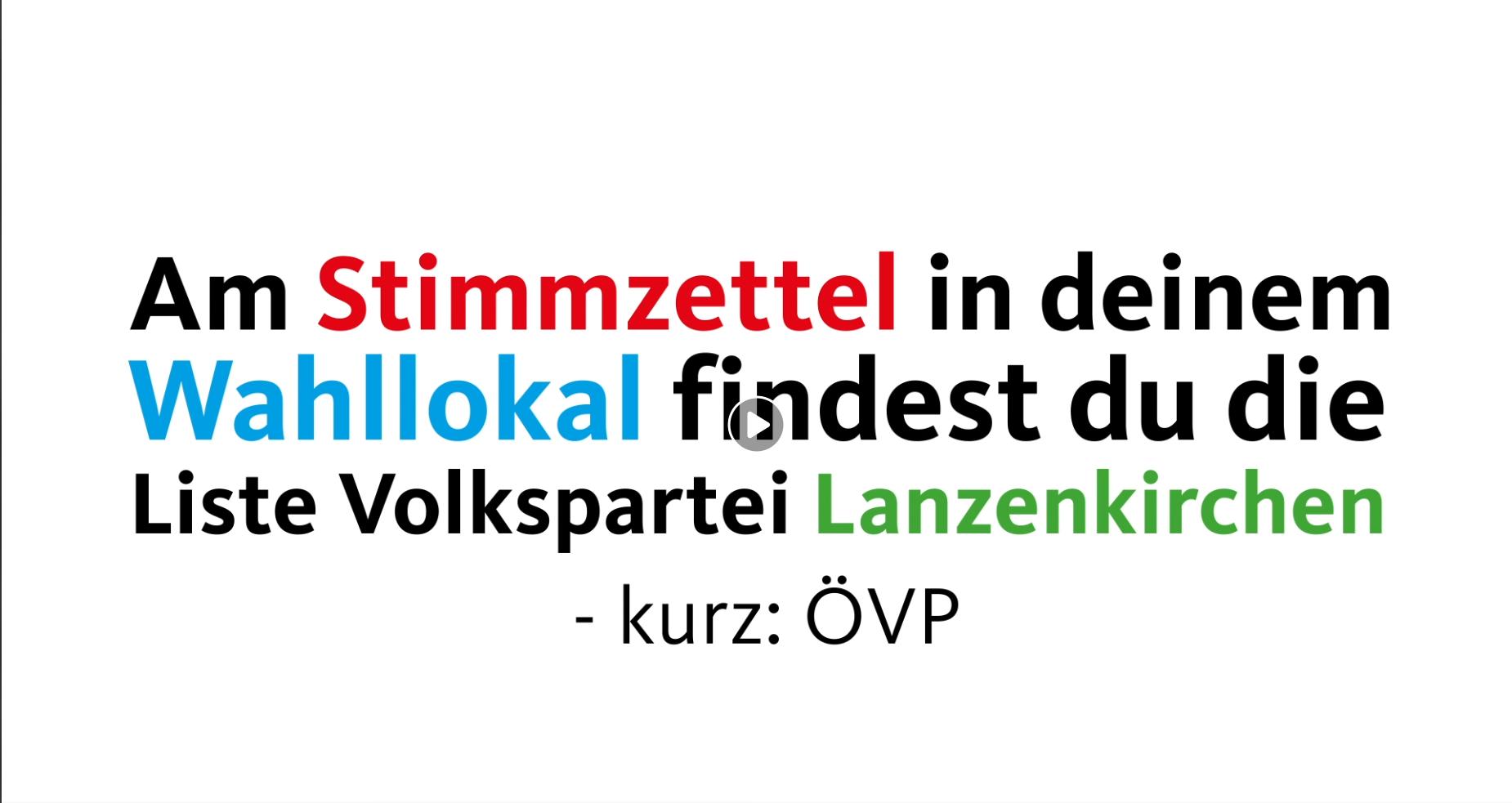 """Videoerklärung """"So wählt man in Lanzenkirchen"""""""