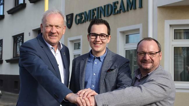 Johann Gergela (ZL), Manuel Zusag (WIR) und Andreas Feichtinger (FPÖ, v.l.) Copyright: Kristina Veraszto, NÖN