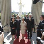 v.links: Nationalratspräsidentin Mag.a Barbara Prammer, Bundespräsident Dr. Heinz Fischer, Margit Fischer und Bundesratspräsident Erwin Preineder