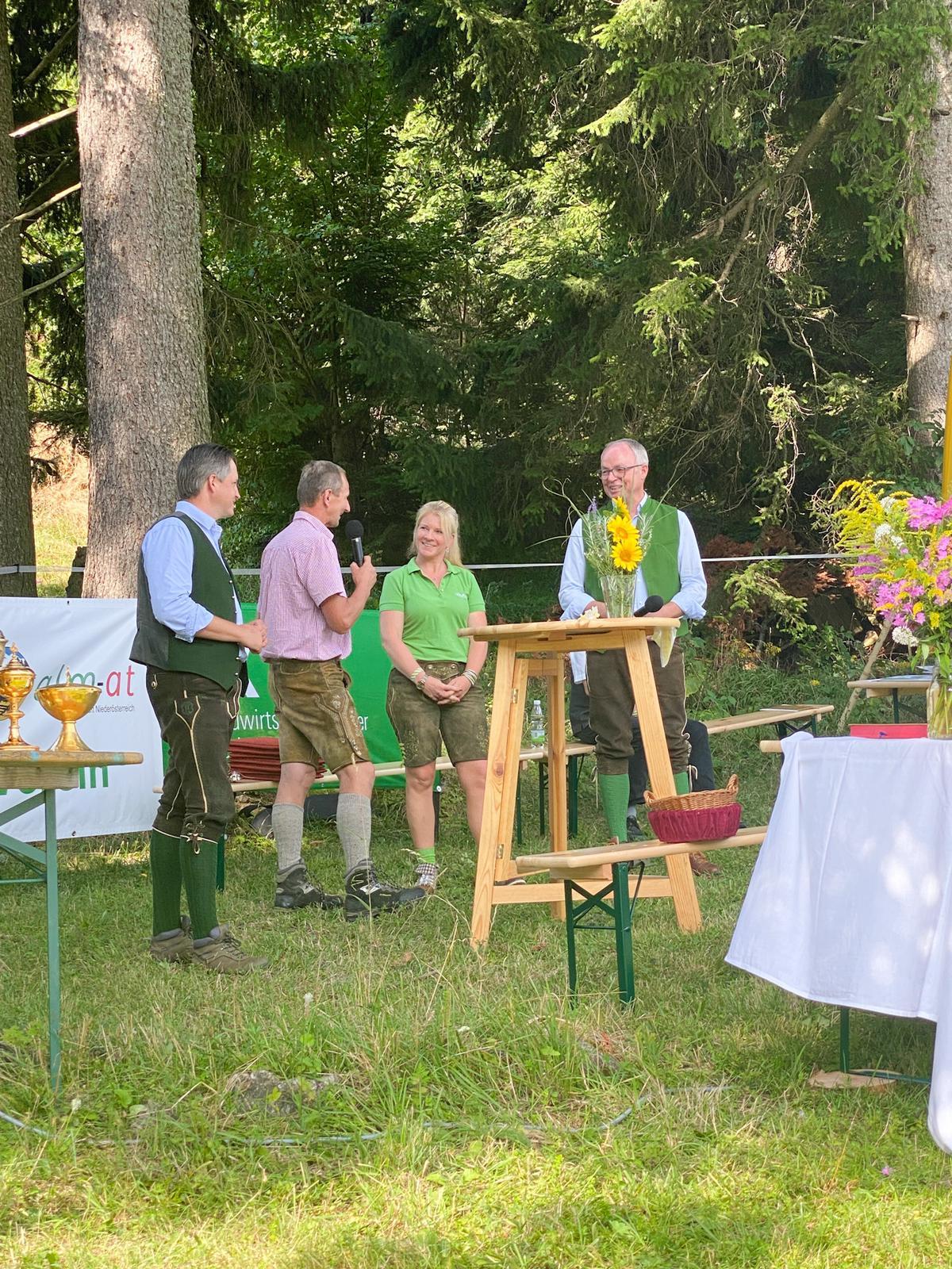 v.l.n.r. Stefan Schmuckenschlager, Josef Mayerhofer, Irene Neumann-Hartberger, Stephan Pernkopf